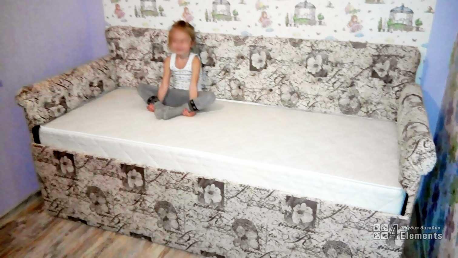 Детская диван-кровать с подъемным механизмом 800-1900 мм