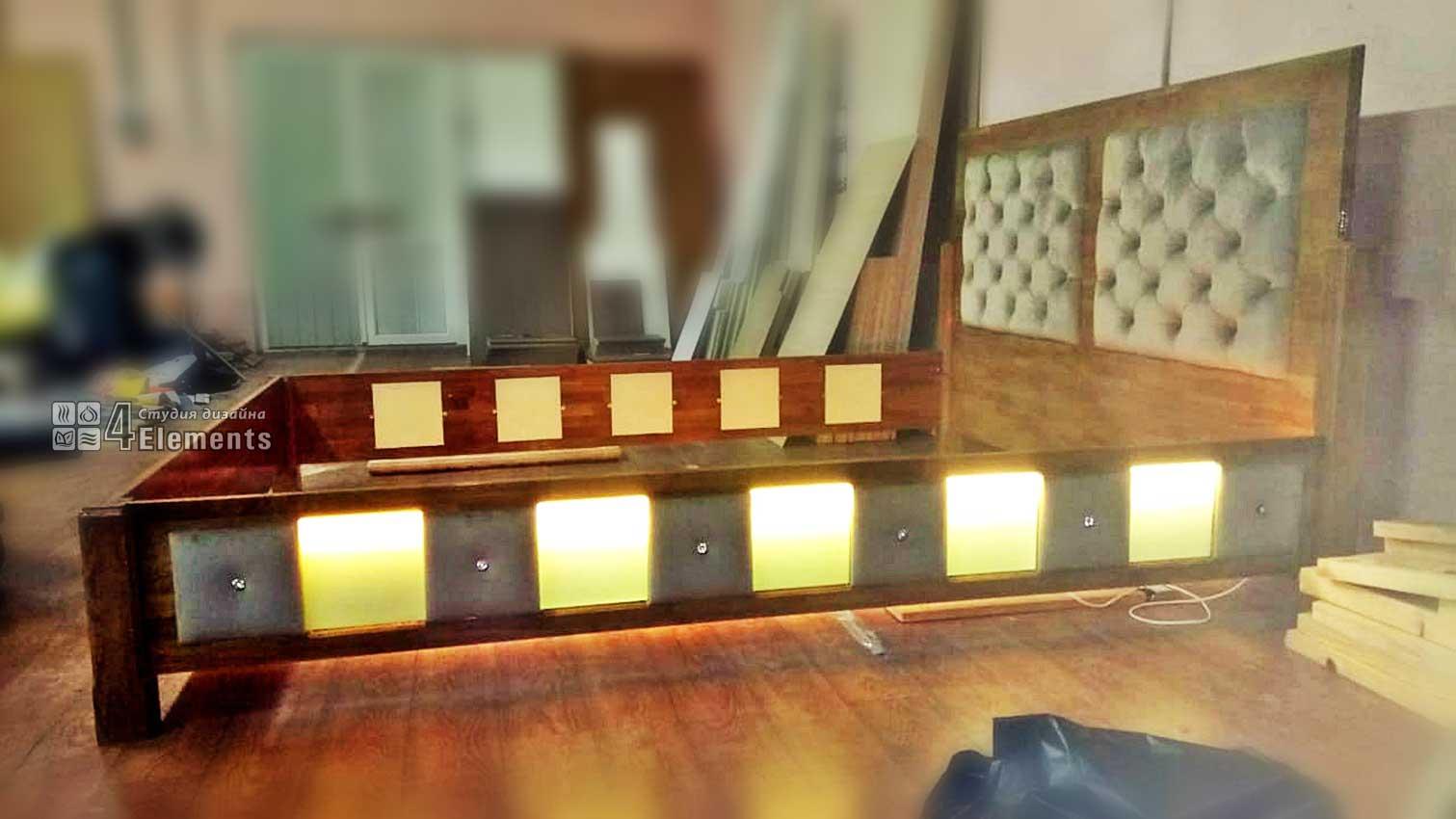 Кровать 1800-2000 с подсветкой
