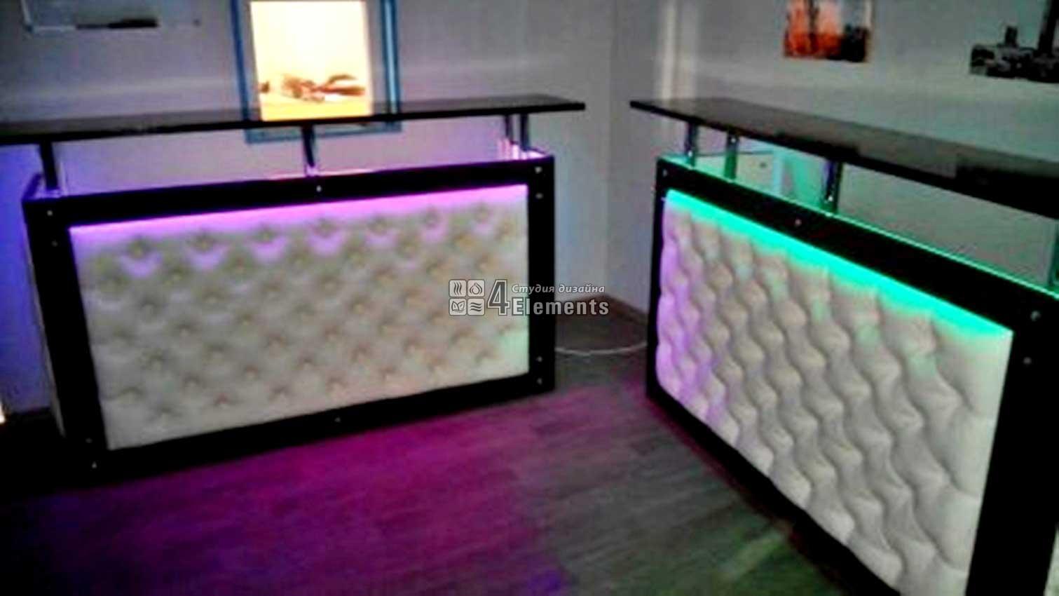 Барные стойки с подсветкой для бармен шоу