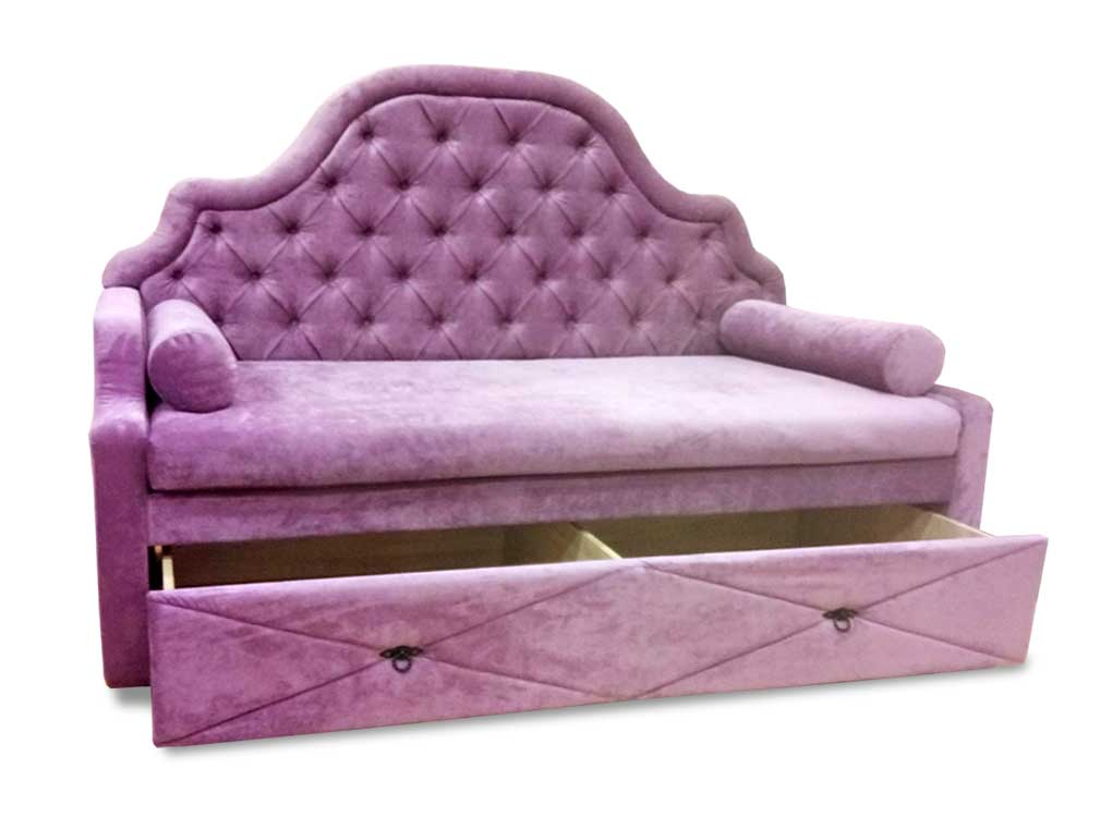 Детская диван-кровать с выдвижным ящиком