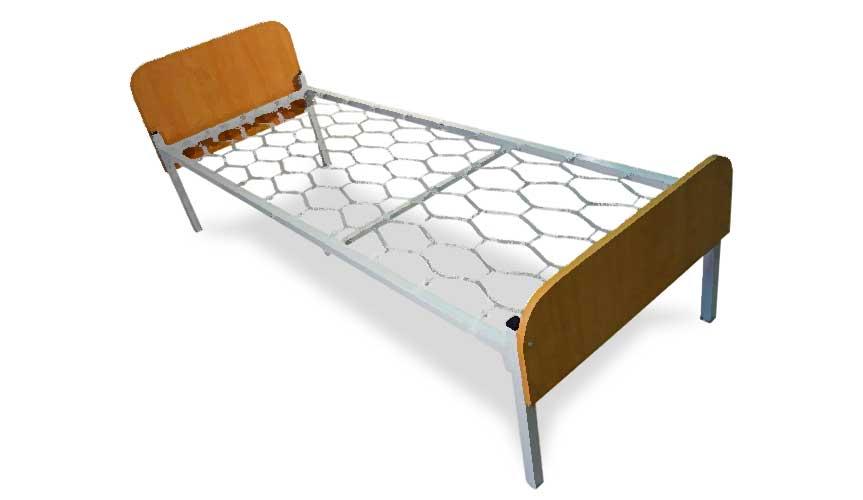 Панцирная кровать с пружинным основанием