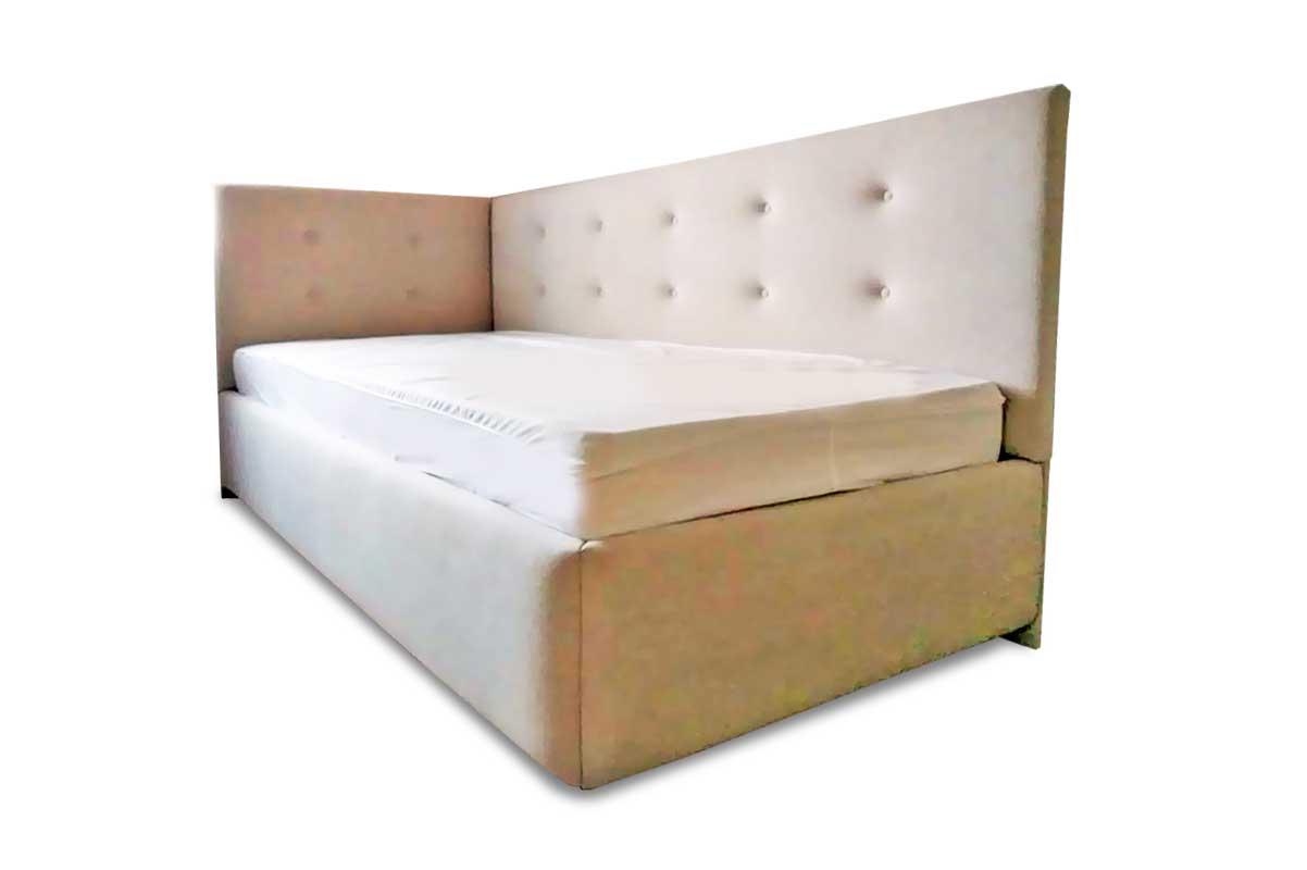 Детская кровать с мягкими изголовьем и боковой стенкой