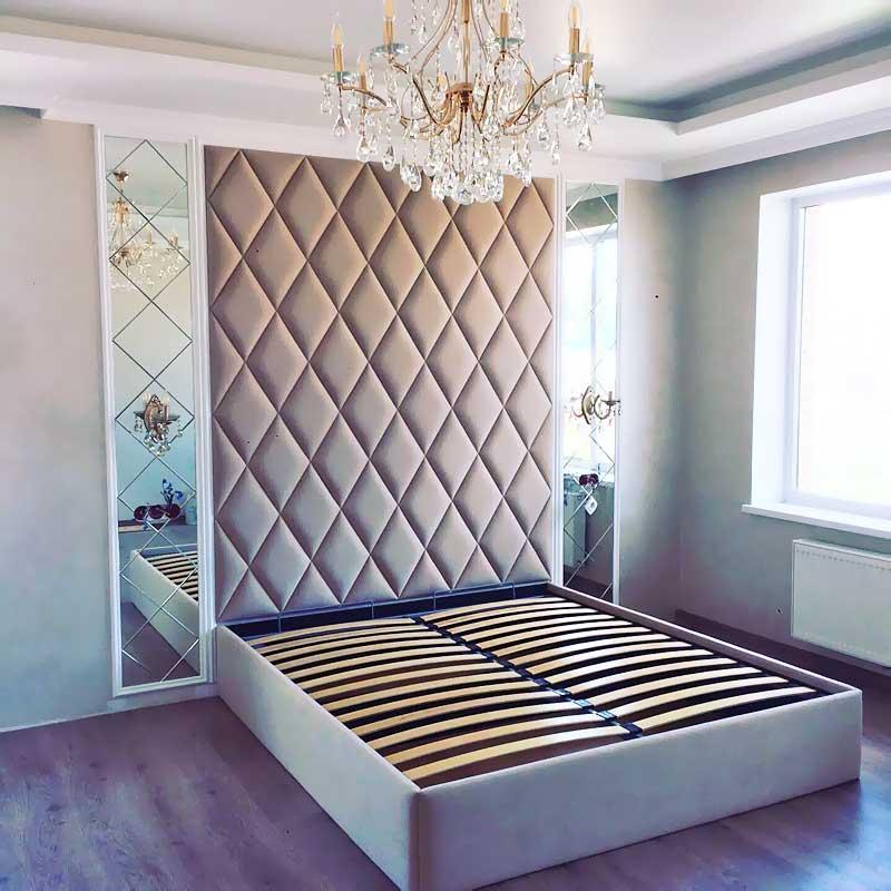 """Мягкая стеновая панель в составе кровати """"Династия (изголовье-мягкая стена)"""