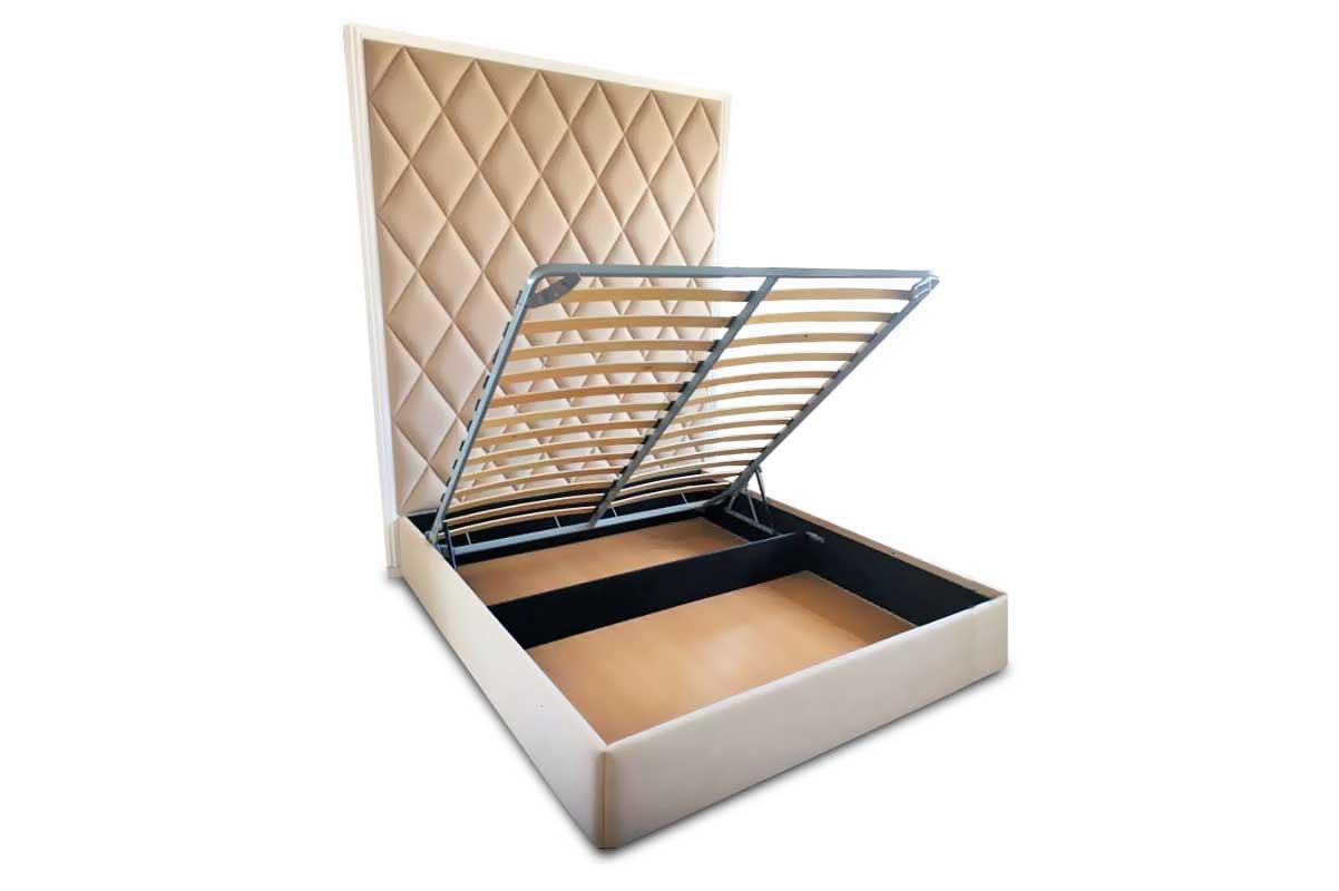 Кровать «Династия» с мягким изголовьем-стеновой панелью