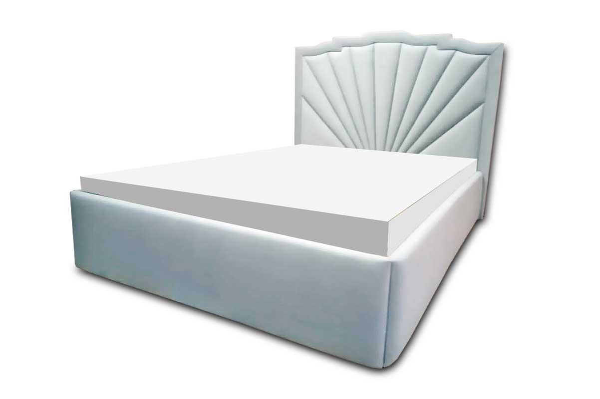 Кровать «Солар» с мягким фигурным изголовьем и боковинами
