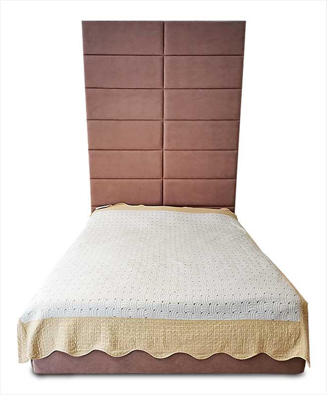 Мягкая кровать с высоким изголовьем К-27 Екатеринбург
