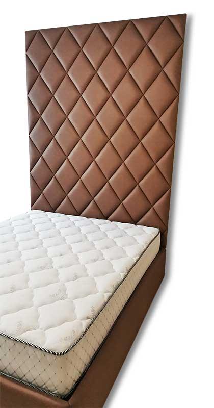 Кровать с высоким мягким изголовьем К-34