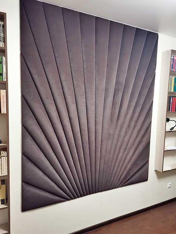Декоративная мягкая стена с геометрическим радиальным узором МСП-15