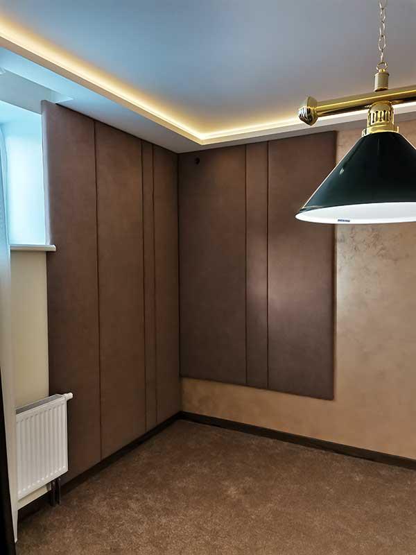Декоративные стеновые мягкие панели в бильярдную МСП-18